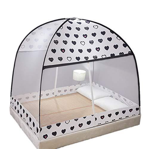 Pop Up Moskitonetz Faltbare Mongolische Jurte Ultra Large Tragbares Zelt Travel Doppeltür Reißverschluss Bettnetz, Einfache Installation für Schlafzimmer Outdoor Camping,120 * 200CM