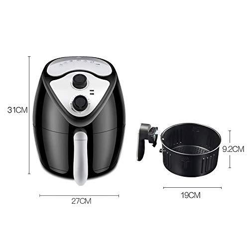41fxlIvtCTL. SL500  - GAOFQ Luftfritteuse mit schnellem Luftzirkulationssystem und Timer und Einstellbarer Temperaturregelung für gesundes ölfreies oder fettarmes Kochen 1300 W 2,6 Liter Schwarz