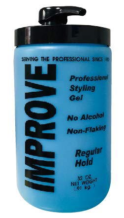Gabel's Improve Styling Hair Gel, Regular Hold, Blue, 32 oz with Pump by Gabel's. Factory Direct