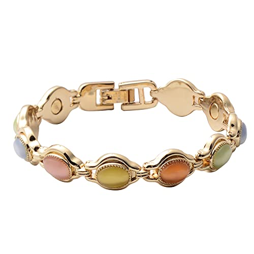 Shop LC Magnetic by DesignOval Multi Color Eye Cats Eye Bracelet Jewelry for Women Size 7'