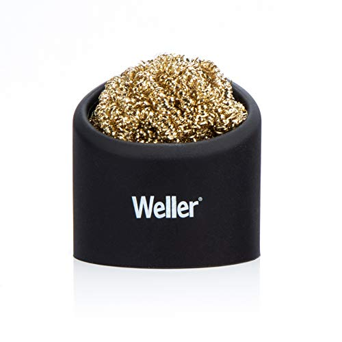 Weller WLACCBSH-02 Soldering Brass Sponge Tip Cleaner with Silicone Holder