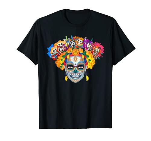 Santa Muerte Nuestra Señora Saint Death La Calavera Catrina Camiseta