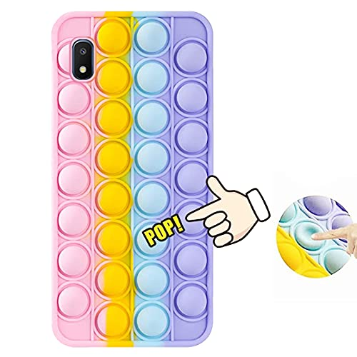 Samsung Galaxy A10E Case, 3D Silicone Cartoon Funny Cute Cool Kawaii Designer Funny Fidget Toy Shockproof Protective Skin Cover Cases for Boys Girls Women Men Teens