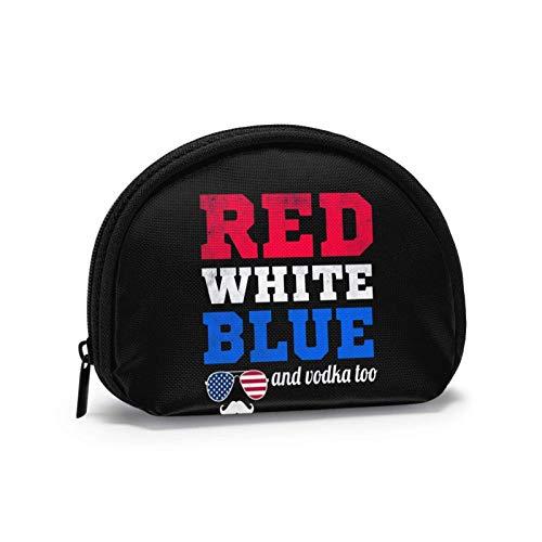 Rot Weiß Blau Und Wodka Zu Kleine Geldbörse Geldbörse Tasche mi-NI Kosmetiktaschen Reißverschlusstasche Für Frauen