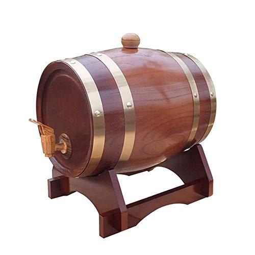 ZXPYZ Barrica De Roble Aguardiente De Vino Vino, Cerveza De Los Barriles De Madera De Calidad del Vino A Granel De Casa Contenedor De Almacenamiento De Vino -,F,10L