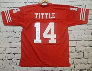Y.A. Tittle Signed Autographed San Francisco 49ers Pro Style Football Jersey - JSA COA