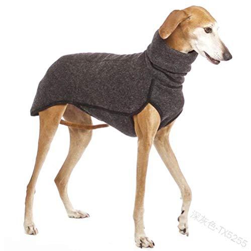 SYQY Hundeweste, Haustier-Shirt, Whippet, Herbst- und Winterkleidung, warm halten, -CX5255/dunkelgrau/_5XL