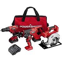 PowerSmart PS76400C 20V MAX Cordless Drill/Saw Combo Kit