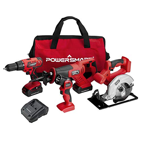 PowerSmart Combo Kit, 20V MAX Cordless Drill/Saw Combo Kit,...
