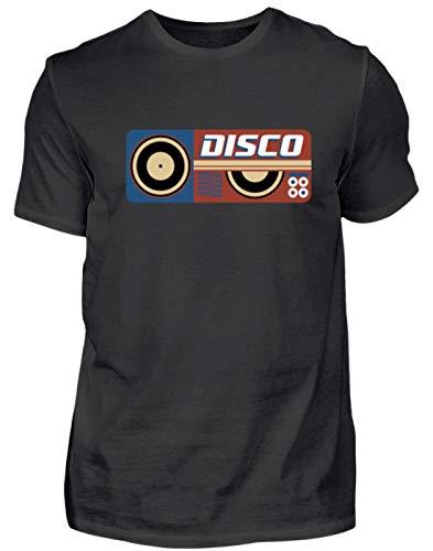 Hoogwaardig herenshirt – disco DJ retro vintage geluidsplaat vinyl party – eenvoudig en grappig design.