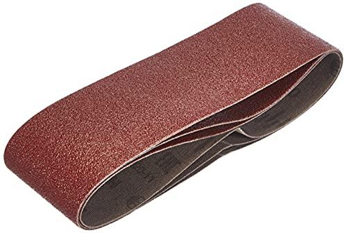 Bosch 2 609 256 188 - Juego de hojas de lija de 3 piezas para lijadora de banda, calidad roja (pack de 3)