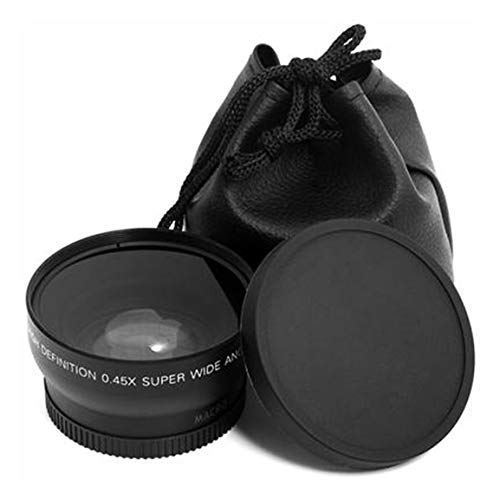 Lente Macro Profesional de 52 mm 0.45 x Gran Angular para Nikon D3200 D3100 D5200 D5100 Super Gran Angular Negro