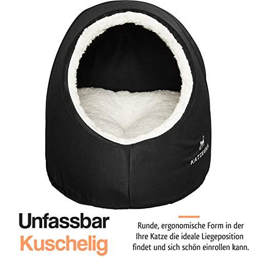 KATZEENA –  Kuschelhöhle | Premium Katzenbett | Waschbare Katzenhöhle | Kuschelhaus für Haustiere - 2