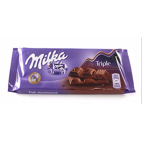MILKA triple chocolate table 90 gr
