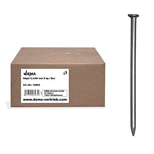 Nägel 3,1x80 mm 5 kg/Box