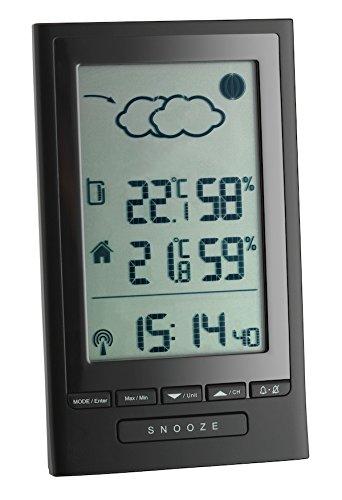 TFA Dostmann Modus Plus Funk-Wetterstation, Wettervorhersage, Außentemperatur, Innentemperatur, Wettersymbole, Luftfeuchtigkeit