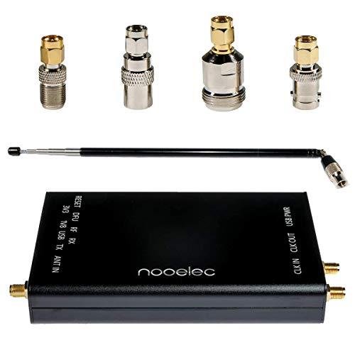 Paquete Completo Nooelec HackRF - Radio Original Definida Software (SDR) HackRF One con 0.5PPM TCXO en un Gabinete de Aluminio Negro Personalizado. Paquete de Adaptador de SMA y Antena ANT500 Incluido