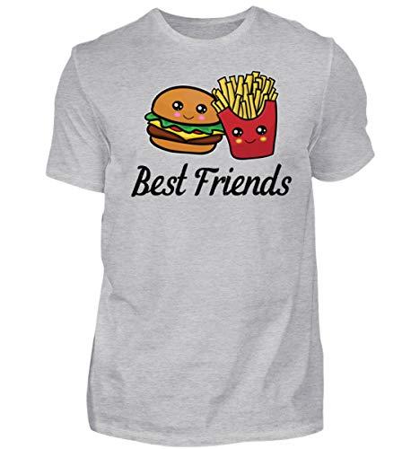 Best Friends T-Shirts Burger und Pommes Beste Freunde Besties Geschenk - Herren Shirt