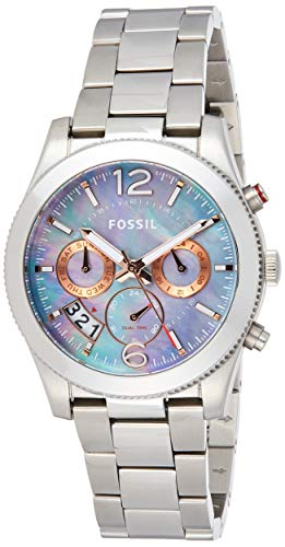 Fossil Women's Perfect Boyfriend ES3880 Silver Stainless-Steel Quartz Fashion Watch