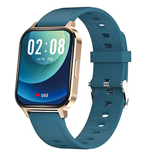 Smart Watch,Fitness Tracker with Heart Rate Monitor, 1.7 Inch Touch Screen, Smartwatch with Blood Oxygen Sleep Monitor, Activity Tracker IP68 Waterproof Pedometer Fitness Watch for Women Men(Gold)