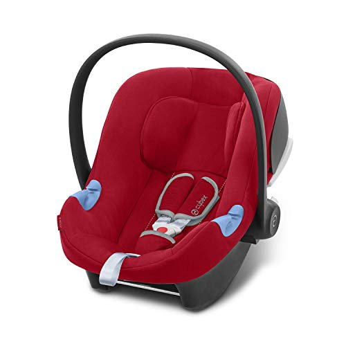 Cybex Silver Aton B I-Size - Silla De Coche Aton B I-Size, Rojo - Dynamic Red, Grupo 0 + (0-13 kg)