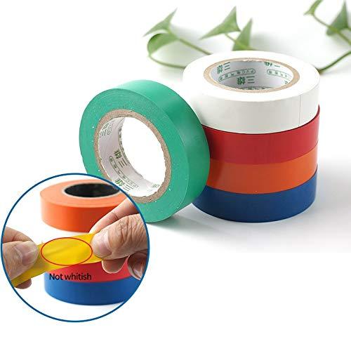 Eléctrica de PVC cinta aislante cinta color mezclado Cinta de