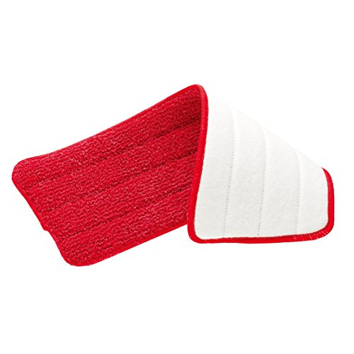 Rubbermaid Reveal Spray Mop Replacement Wet Mopping Microfiber Pad (FG1M1900RED)