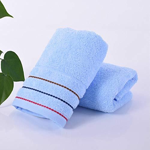 XINDUO Juego de Toallas de Mano de 115% algodón,Toalla Absorbente Suave de algodón 2pcs-Blue_34 * 74,Toallas de bambú súper absorbentes