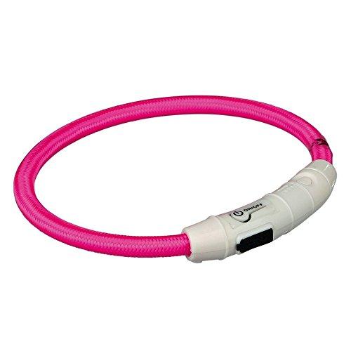 TRIXIE Collar de Aro Flash USB para Perros