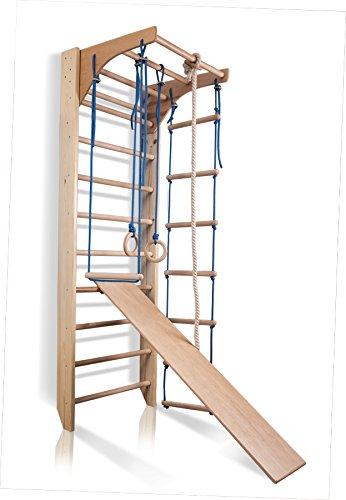 KIND Turnwand Sprossenwand Kombi-3-240 Kletterwand Fitness Sportgerät Klettergerüst Holz