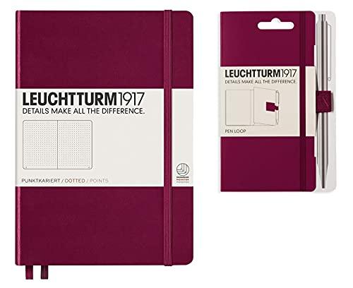 Leuchtturm1917 - Cuaderno de tapa dura A5 con puerto de puntos, color rojo