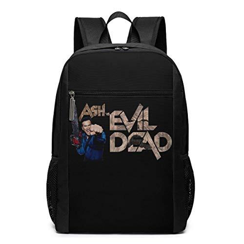 ZYWL Ash vs Evil Dead Logo 17-Zoll-Laptop-Rucksack, große Business-Reiserucksäcke für Männer Frauen Wasserbeständige langlebige leichte Schulbuchtasche