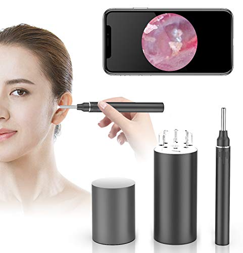 WiFi Otoscope Ear Wax Removal Kit-OVIFM 3.9mm HD Visual Ear Camera with 6...