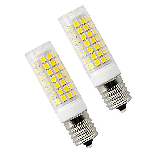 8W Dimmable LED E17 Microwave Oven Bulb - Intermediate Base LED Appliance Light, Daylight 6000K 100W Halogen Equivalent Under-Microwave Stove Light (2-Pack)
