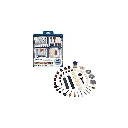 Dremel SC723 EZ SpeedClic Mehrzweck Zubehörset (100 Dremel Zubehören zum Schleifen, Schneiden, Schärfen, Polieren, Reinigen, Gravieren, Schnitten)