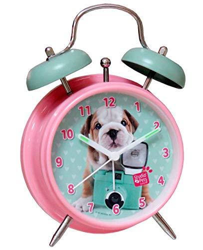 CYP BRANDS- Despertador Campanas Studio Pets, Color rosa, (RD-01-ST)