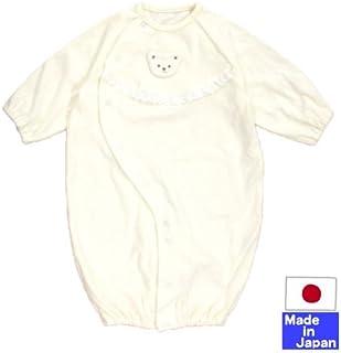 ★日本製★パイルツーウェイオール(白いクマ・クリーム)新生児50-70cm オールシーズン
