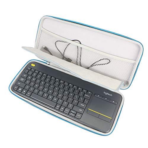 Tasche Schutz hülle Etui Tragetasche Beutel Für Logitech K400 Plus Keyboard Tastatur schwarz, German Wireless Touch, 920-007127, 920-003100 by Markstore