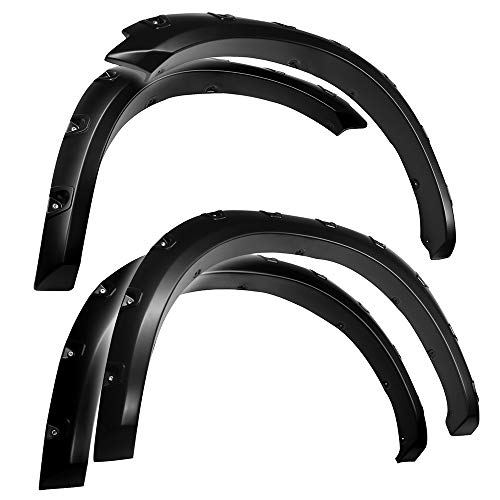 Tyger Auto TG-FF8D4148 for 2009-2018 Dodge Ram 1500; 2019-2021 Ram 1500 Classic | Exclude R/T, Warlock, Rebel Models | Paintable Smooth Matte Black Pocket Bolt-Riveted Style Fender Flare Set, 4 Piece
