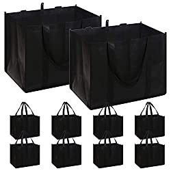 commercial A set of 10 reusable shopping bags. Oversized Heavy Duty Heavy Duty Shopping Bag … reusable grocery bags