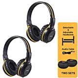 Best Infrared Headphones - 2 Pack of IR Wireless Headphones for Car Review