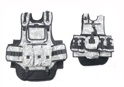 Rap4 Counterstrike Padded Camo Paintball Vest - Chest Protector
