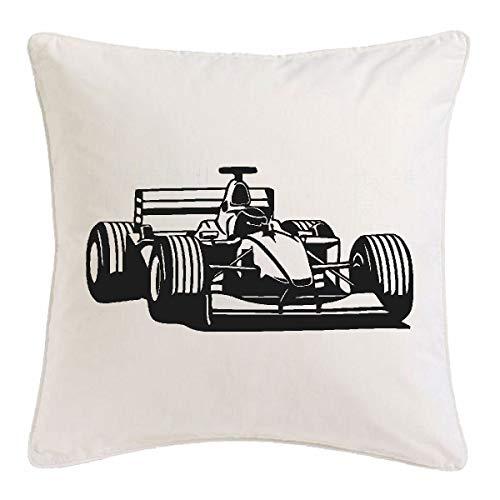 Reifen-Markt Kissenbezug 40x40cm Formel 1 - Schumacher - Rennsport - DTM - TOURENWAGEN aus Mikrofaser in Weiß