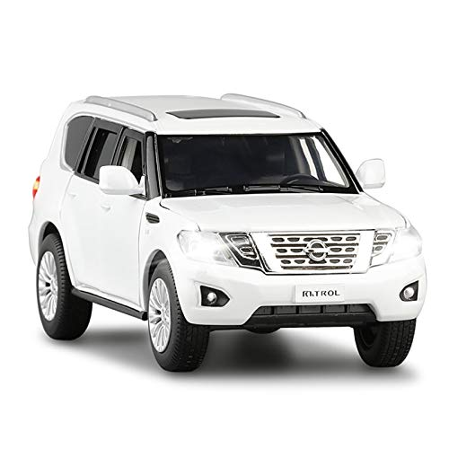 Model Kit 1:32 for Patrol SUV Car Die Cast Alloy Car Model Scale Car Model Collectibles Pull Back Car Toy Birthday Present Boy (Color : White)