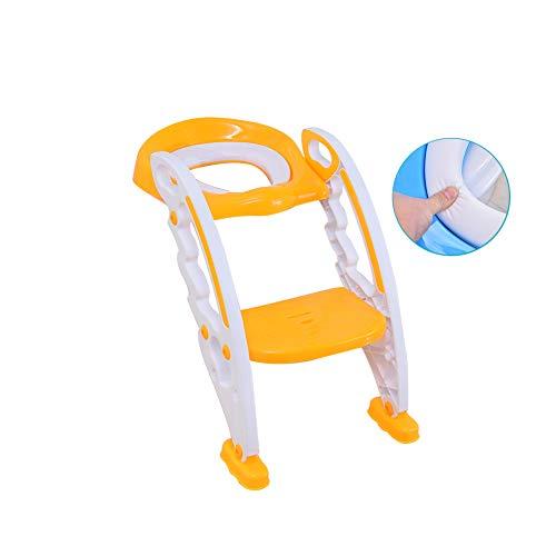 Adaptador Wc Niños, Reductor Portatil Orinal Infantil Confort Tapizado Pedal Antideslizante Seguridad Ajustable Robusto Plegable Apto Fácil De Instalar Diseño ergonómico