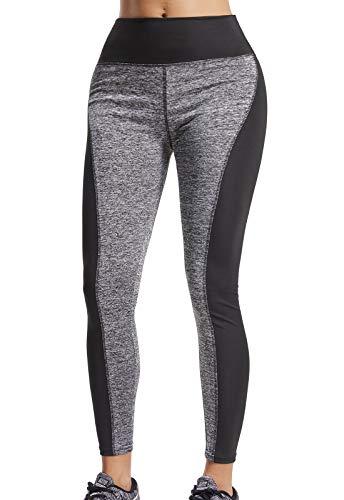 FITTOO Mallas Pantalones Deportivos Leggings Mujer Yoga de Alta Cintura Elásticos y Transpirables para Yoga Running Fitness con Gran Elásticosg37k