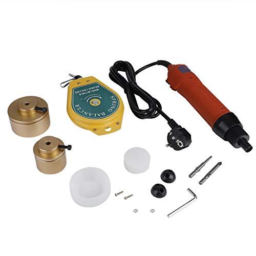 Tapadora eléctrica 220V Máquina de tapadora de tapas de botella eléctrica de...