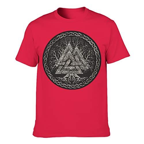Digitaldruck Bunt Kurzarm-Baumwoll-T-Shirt für Freund Freundin oder Familien red XL