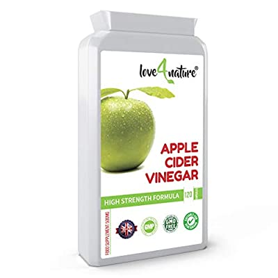 Love 4 Nature | Apple Cider Vinegar Tablets | Extra Strong Body Cleanse Supplement | Helps with Diet and Digestion | 120 Capsules