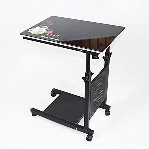 XUQIANG Verstellbares Matratze-Nachttischrad für Krankenbett und Matratze für Laptop sowie Roll-Bettablage für Laptophalter Klapptisch (Color : Black-b)